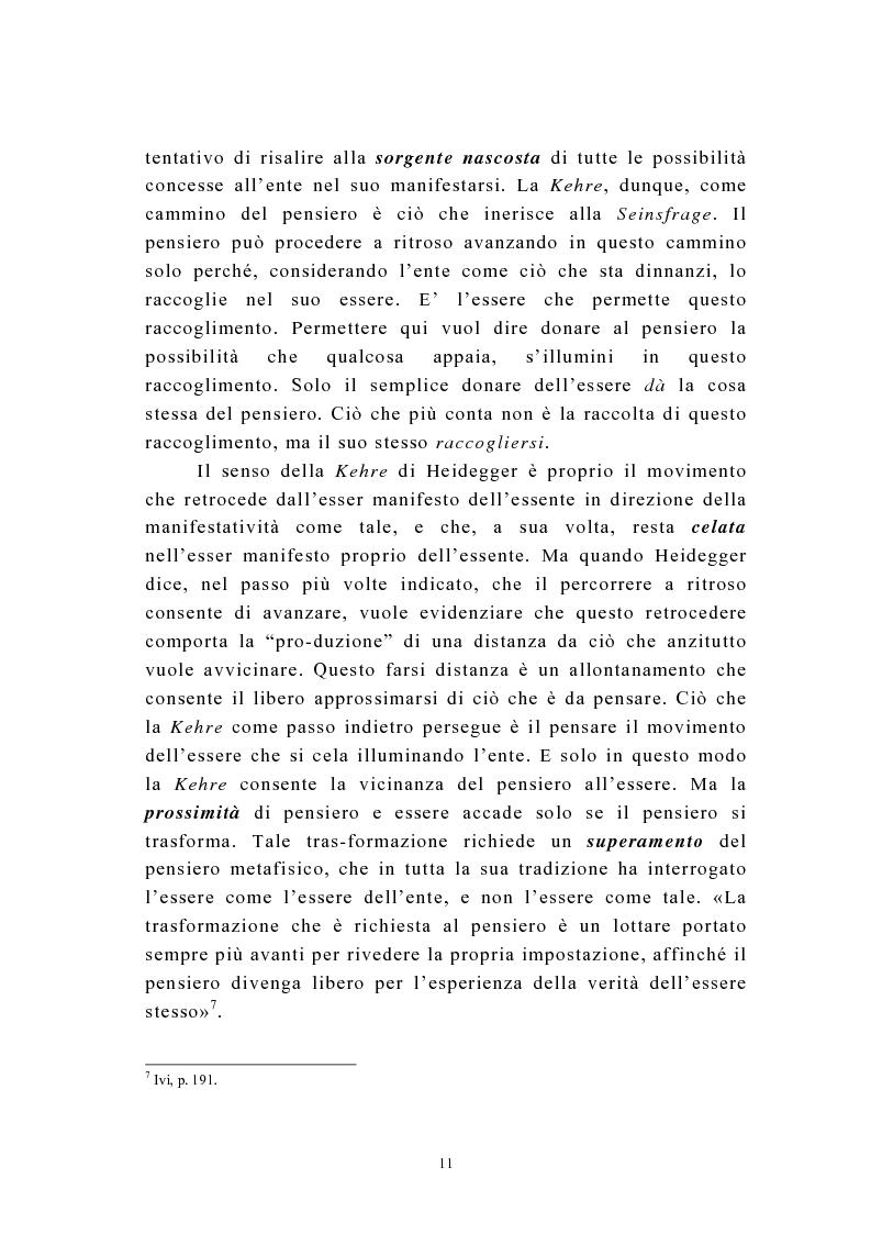 Anteprima della tesi: Martin Heidegger e il problema dell'opera d'arte: la questione ermeneutica, Pagina 10
