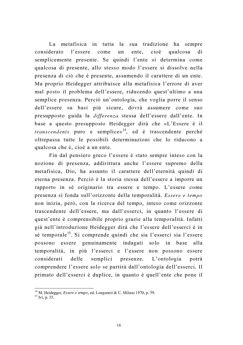 Anteprima della tesi: Martin Heidegger e il problema dell'opera d'arte: la questione ermeneutica, Pagina 15