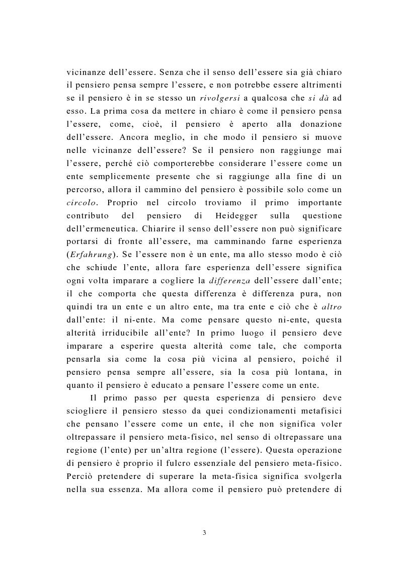 Anteprima della tesi: Martin Heidegger e il problema dell'opera d'arte: la questione ermeneutica, Pagina 2