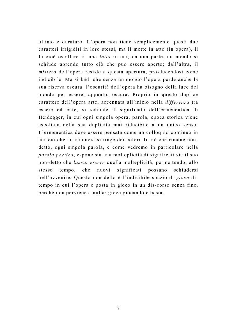 Anteprima della tesi: Martin Heidegger e il problema dell'opera d'arte: la questione ermeneutica, Pagina 6