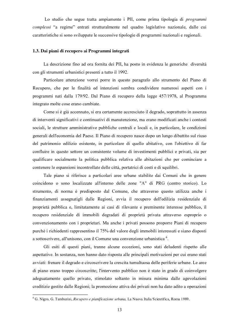 Anteprima della tesi: I ''programmi integrati d'intervento'' come strumento di riqualificazione urbana, Pagina 10