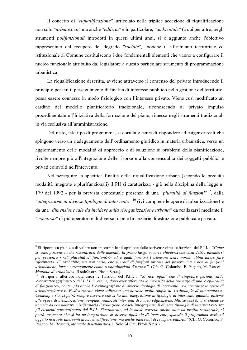 Anteprima della tesi: I ''programmi integrati d'intervento'' come strumento di riqualificazione urbana, Pagina 13