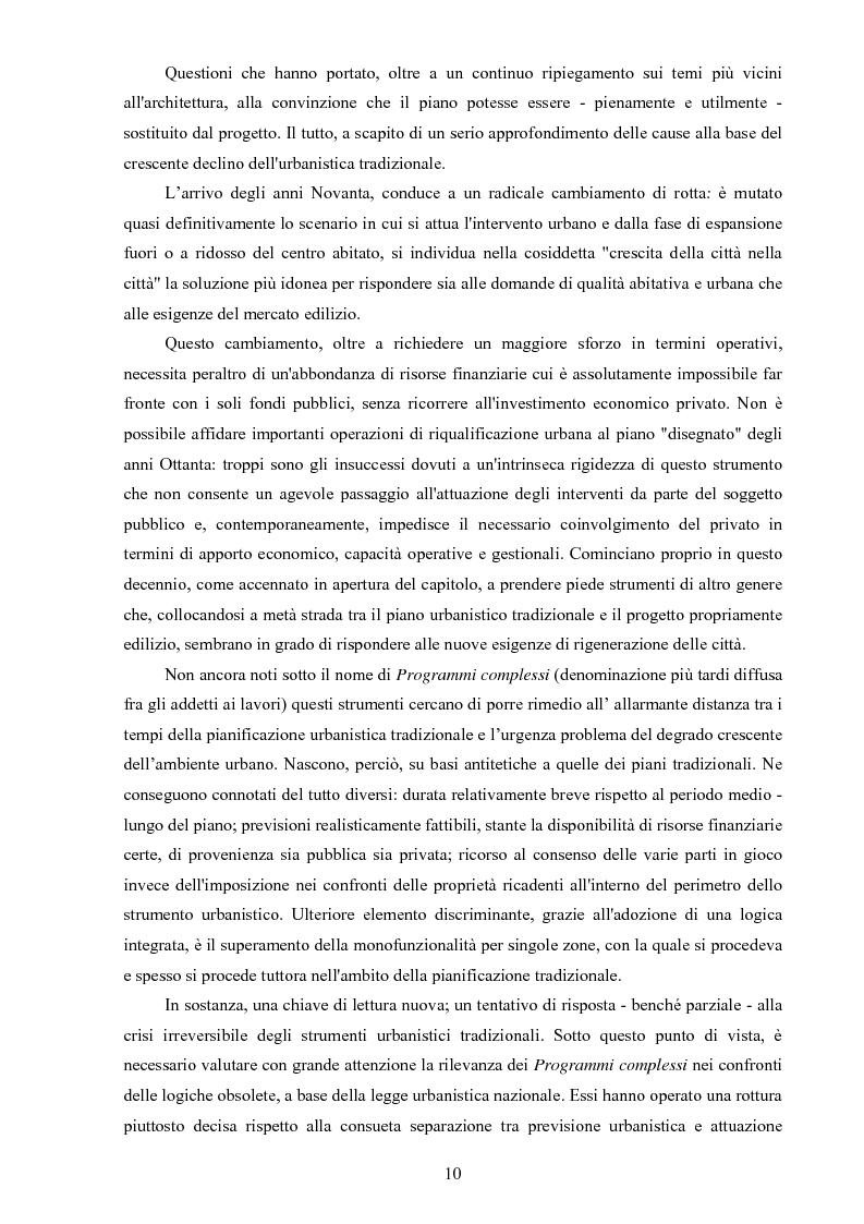 Anteprima della tesi: I ''programmi integrati d'intervento'' come strumento di riqualificazione urbana, Pagina 7