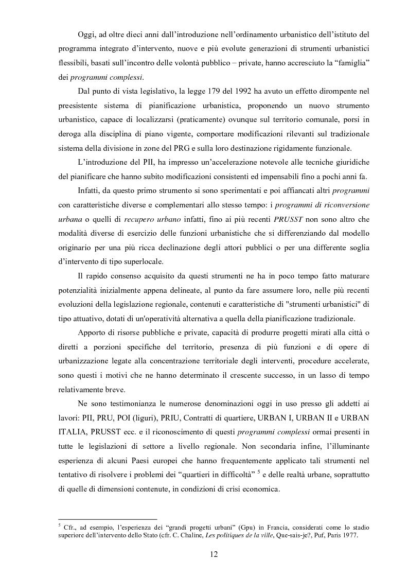Anteprima della tesi: I ''programmi integrati d'intervento'' come strumento di riqualificazione urbana, Pagina 9