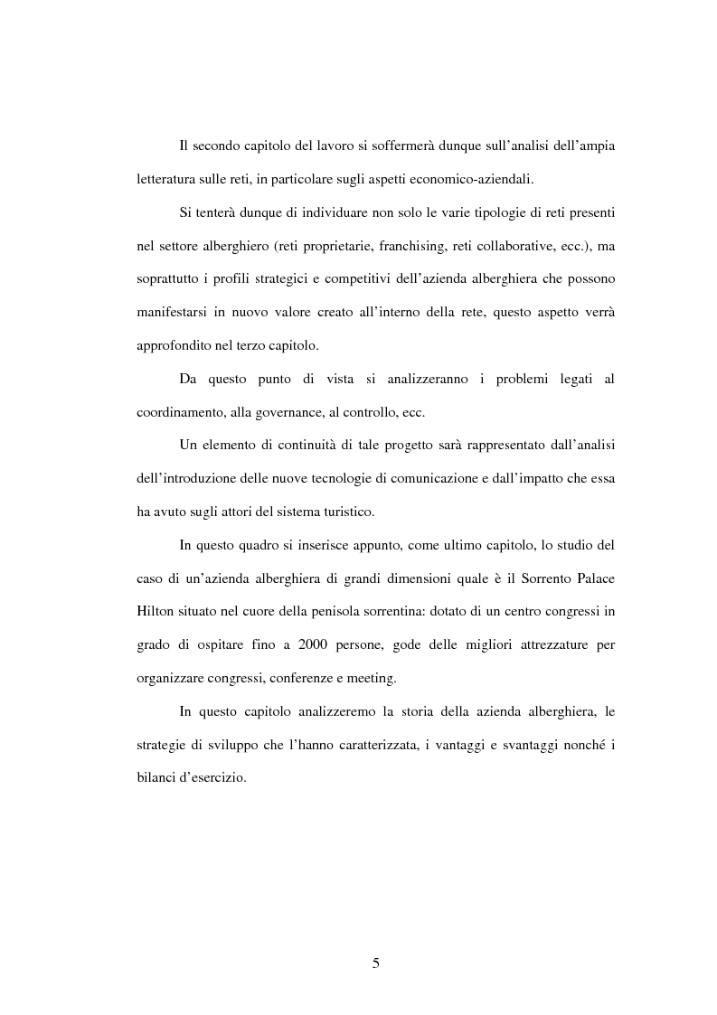 Anteprima della tesi: La strategia del valore delle aziende alberghiere: il caso Hilton Sorrento Palace, Pagina 2