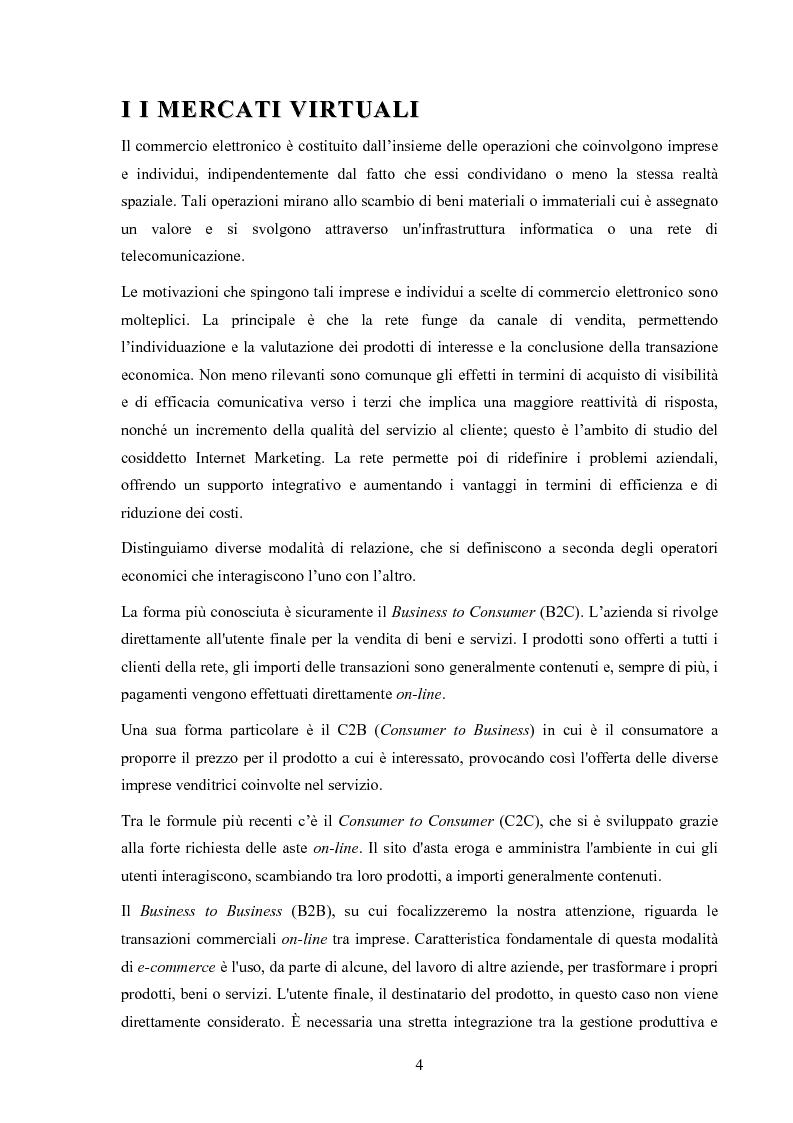 Anteprima della tesi: I mercati virtuali e il caso '' east2italy.com '', Pagina 3