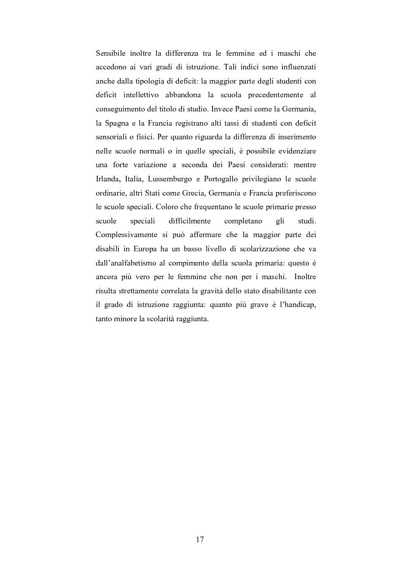 Anteprima della tesi: Università di Bologna ed handicap: chi studia valuta i servizi, Pagina 11