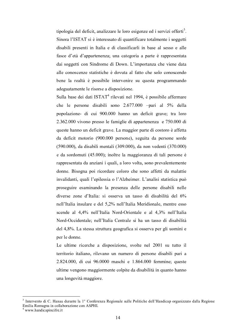 Anteprima della tesi: Università di Bologna ed handicap: chi studia valuta i servizi, Pagina 8