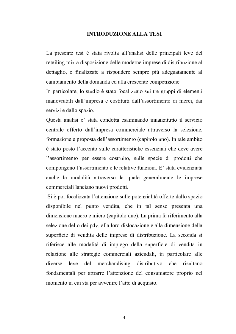 Anteprima della tesi: Le risorse assortimento-spazio-servizi nell'economia delle aziende di distribuzione commerciale, Pagina 1