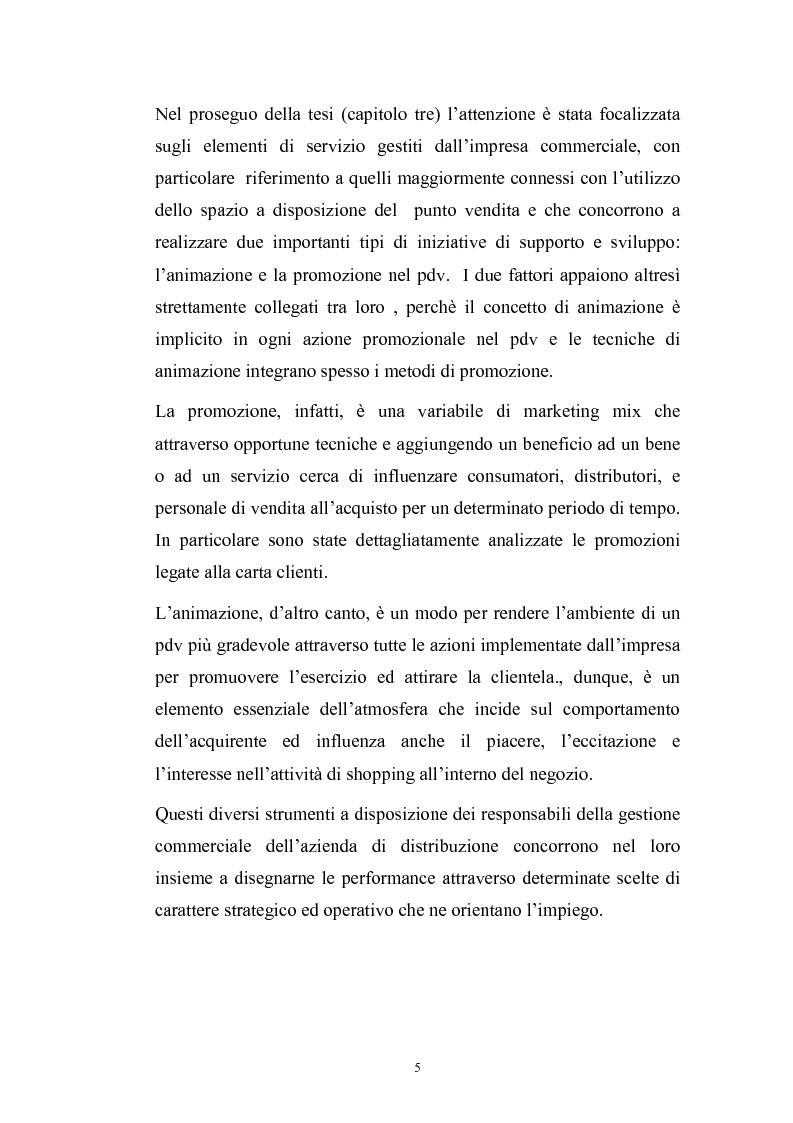 Anteprima della tesi: Le risorse assortimento-spazio-servizi nell'economia delle aziende di distribuzione commerciale, Pagina 2