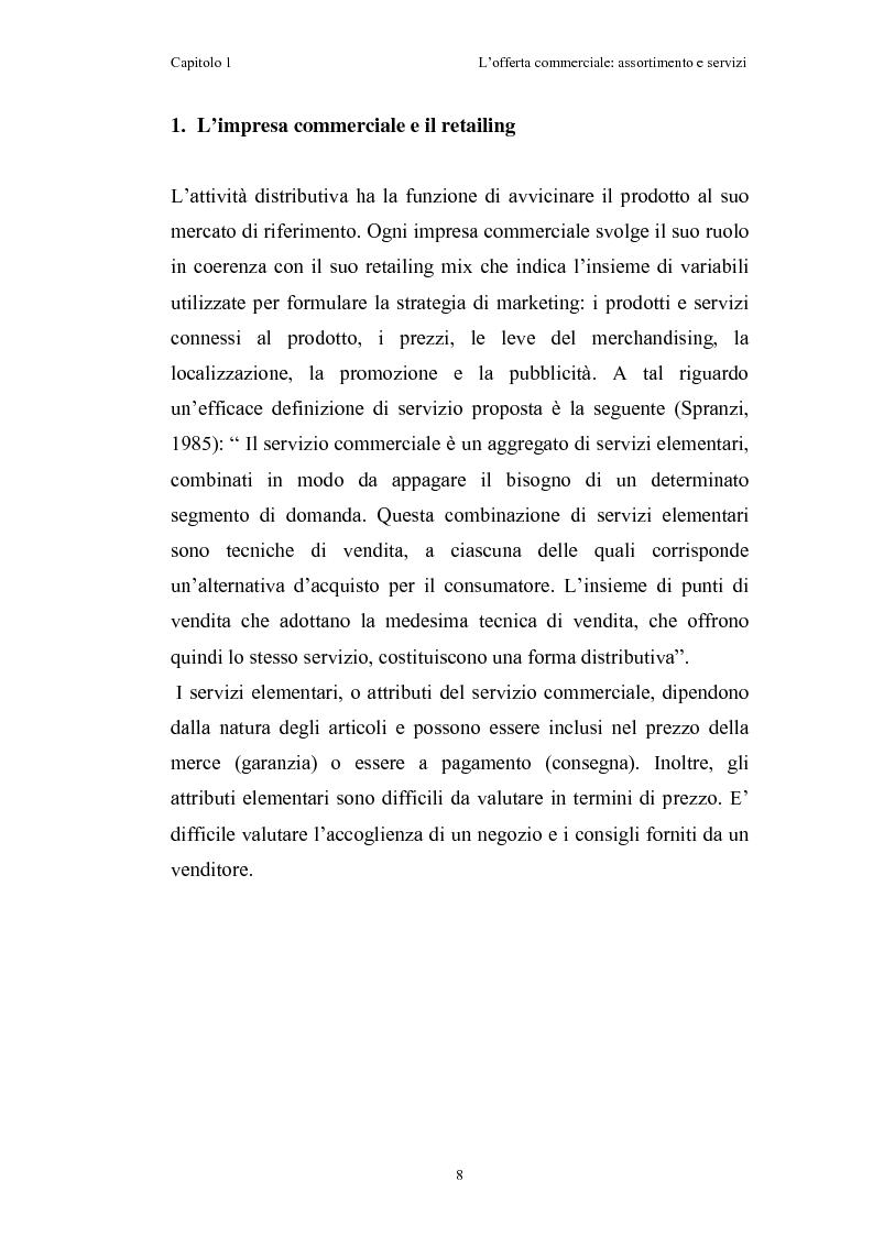 Anteprima della tesi: Le risorse assortimento-spazio-servizi nell'economia delle aziende di distribuzione commerciale, Pagina 5