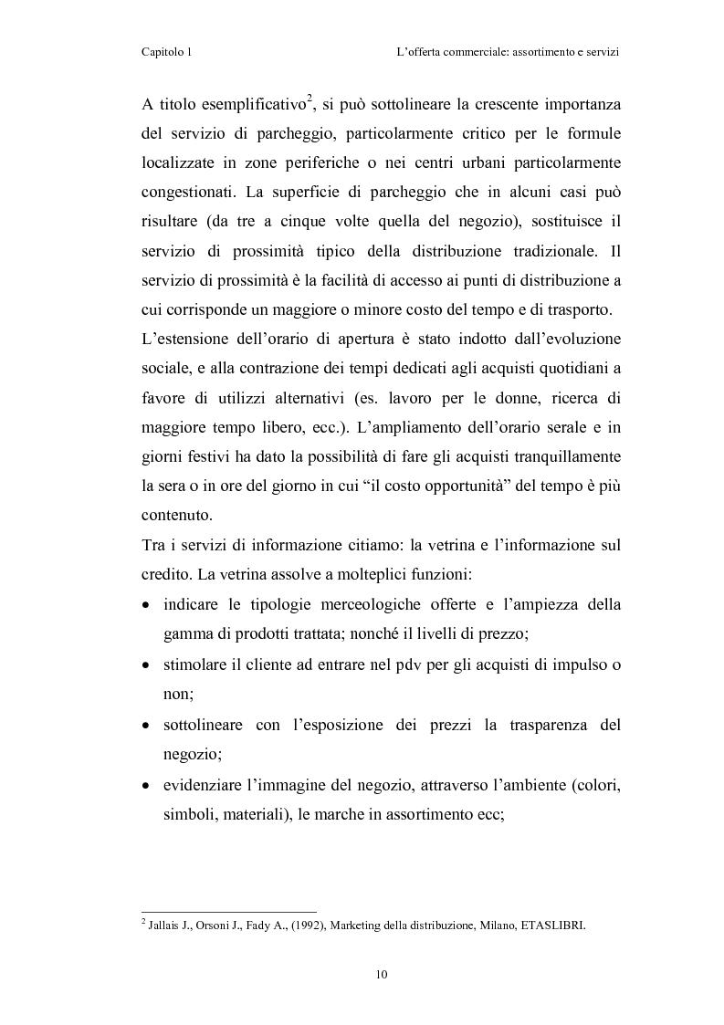 Anteprima della tesi: Le risorse assortimento-spazio-servizi nell'economia delle aziende di distribuzione commerciale, Pagina 7