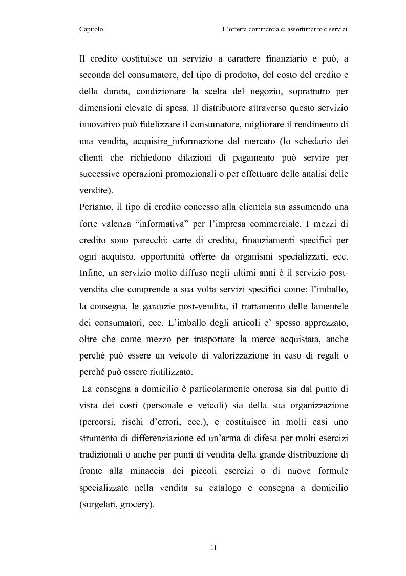 Anteprima della tesi: Le risorse assortimento-spazio-servizi nell'economia delle aziende di distribuzione commerciale, Pagina 8