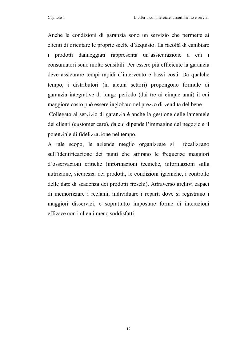 Anteprima della tesi: Le risorse assortimento-spazio-servizi nell'economia delle aziende di distribuzione commerciale, Pagina 9