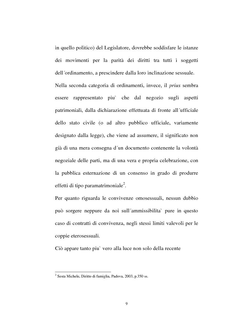 Anteprima della tesi: I contratti regolatori della convivenza, Pagina 11