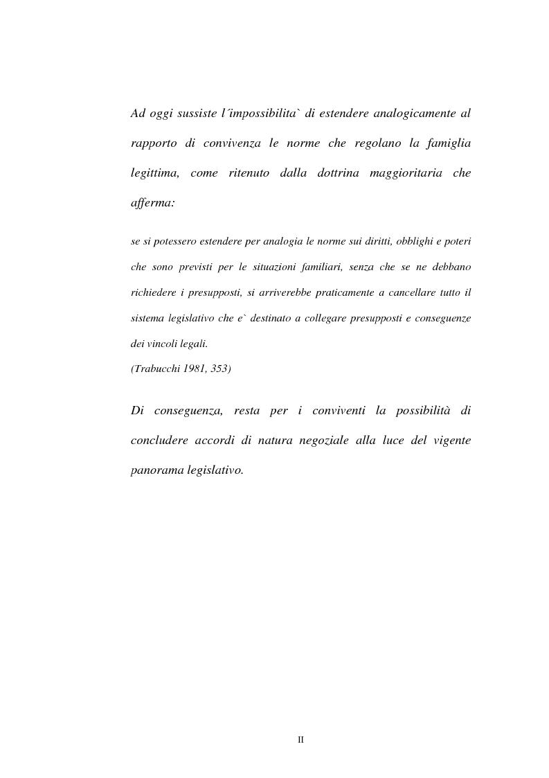 Anteprima della tesi: I contratti regolatori della convivenza, Pagina 2