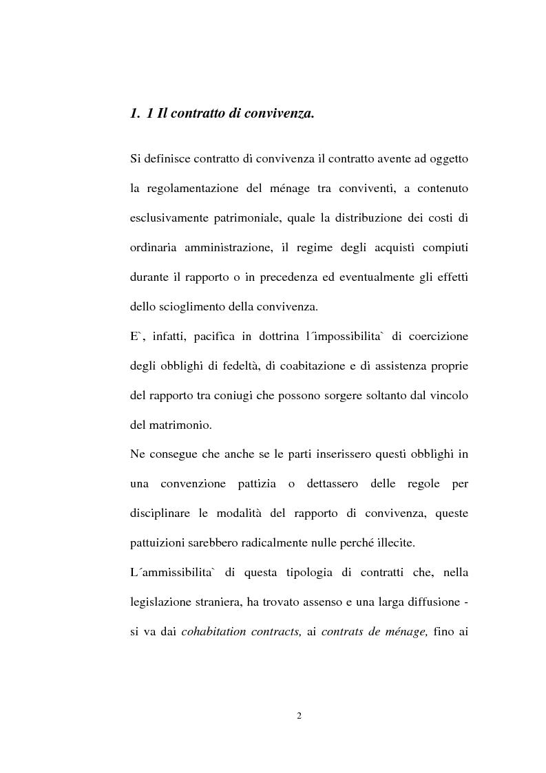 Anteprima della tesi: I contratti regolatori della convivenza, Pagina 4