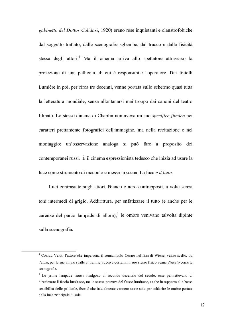 Anteprima della tesi: La Luce naturale al Cinema. Barry Lyndon e I Giorni del Cielo, Pagina 10