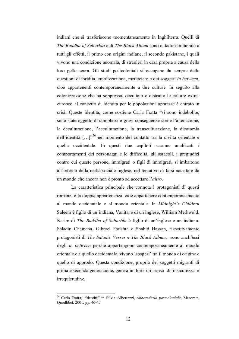 Anteprima della tesi: Elementi postcoloniali e postmoderni nell'opera di Salman Rushdie e Hanif Kureishi, Pagina 11