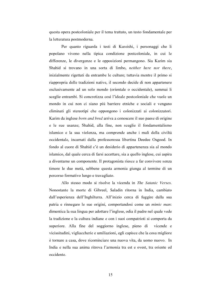 Anteprima della tesi: Elementi postcoloniali e postmoderni nell'opera di Salman Rushdie e Hanif Kureishi, Pagina 14