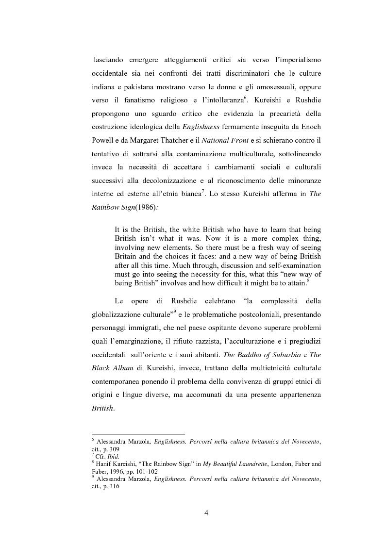 Anteprima della tesi: Elementi postcoloniali e postmoderni nell'opera di Salman Rushdie e Hanif Kureishi, Pagina 3