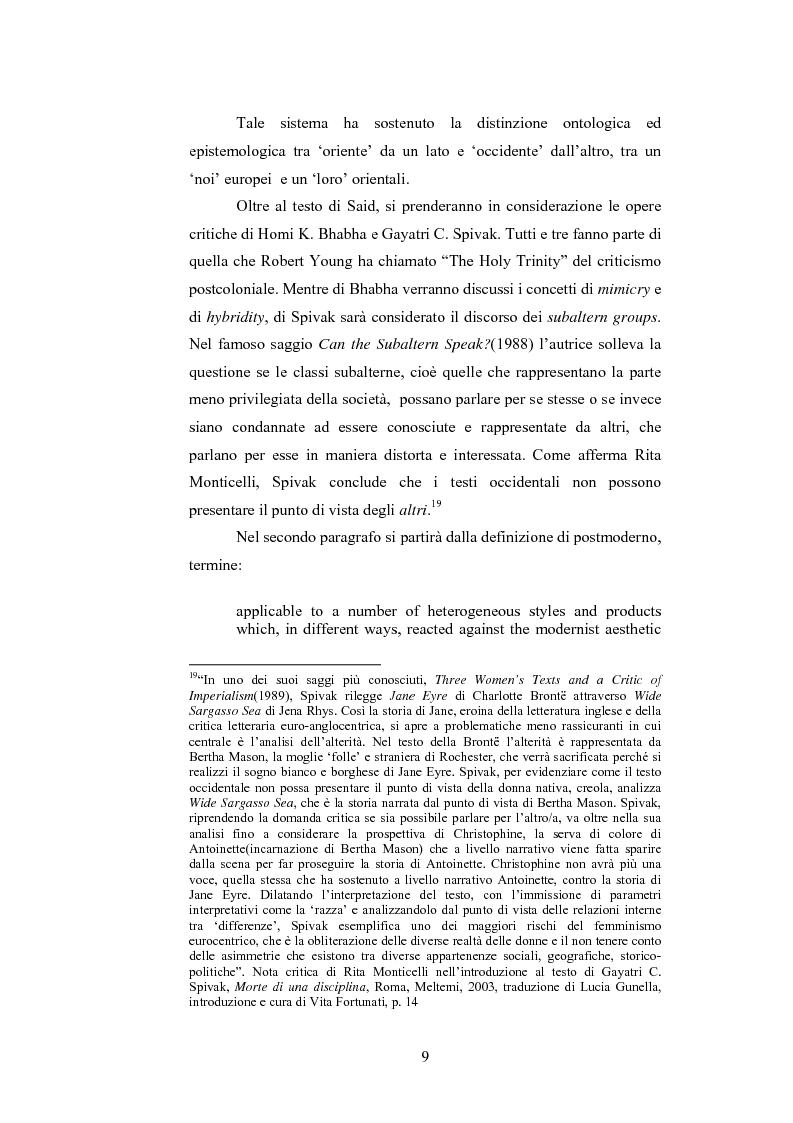 Anteprima della tesi: Elementi postcoloniali e postmoderni nell'opera di Salman Rushdie e Hanif Kureishi, Pagina 8