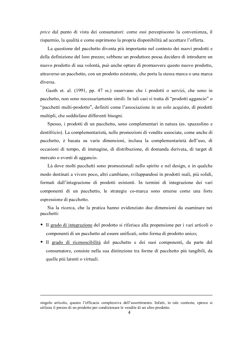 Anteprima della tesi: Gli effetti di bundling (prezzatura di prodotti a pacchetto) sul comportamento del consumatore. Teoria e applicazioni., Pagina 2