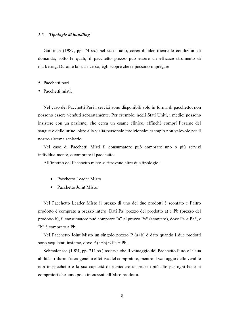 Anteprima della tesi: Gli effetti di bundling (prezzatura di prodotti a pacchetto) sul comportamento del consumatore. Teoria e applicazioni., Pagina 6