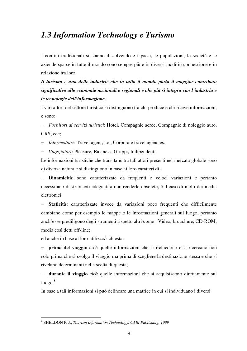 Anteprima della tesi: L'impatto delle nuove tecnologie e del web nell'impresa alberghiera, Pagina 9