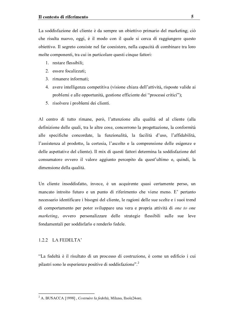 Anteprima della tesi: I sistemi competitivi e le strategie di CRM nel settore bancario. Il caso BNL, Pagina 8