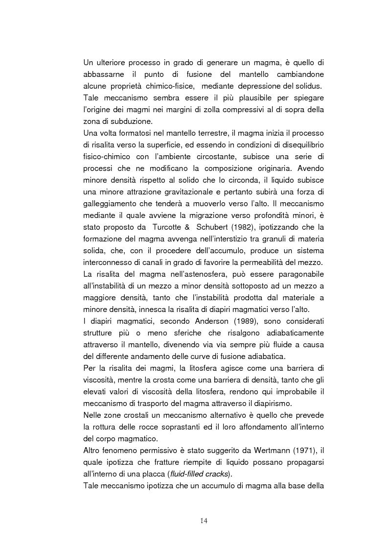 Anteprima della tesi: Confronto tra il vulcanismo del pianeta Marte e il vulcanismo terrestre con particolare riferimento alla Provincia Comagmatica Romana, Pagina 14