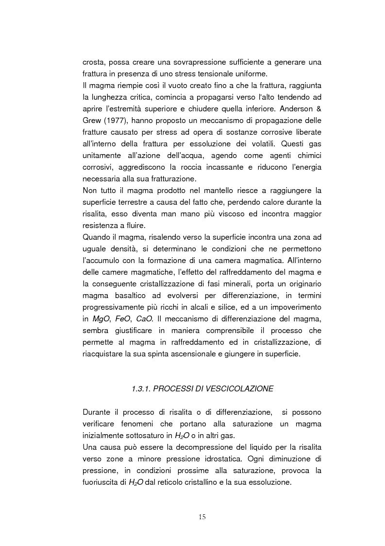 Anteprima della tesi: Confronto tra il vulcanismo del pianeta Marte e il vulcanismo terrestre con particolare riferimento alla Provincia Comagmatica Romana, Pagina 15