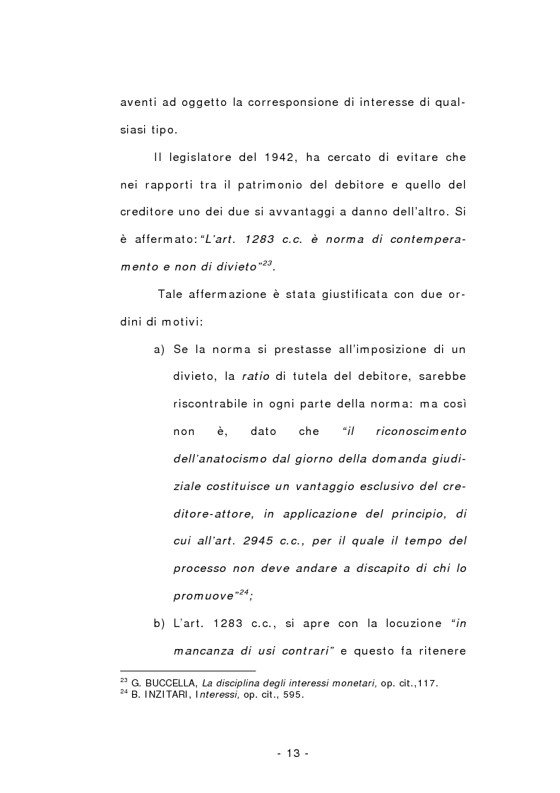 Anteprima della tesi: L'anatocismo, Pagina 13