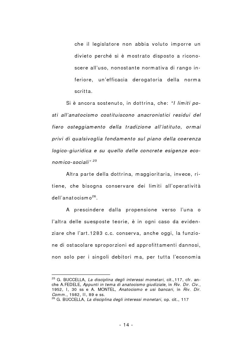 Anteprima della tesi: L'anatocismo, Pagina 14
