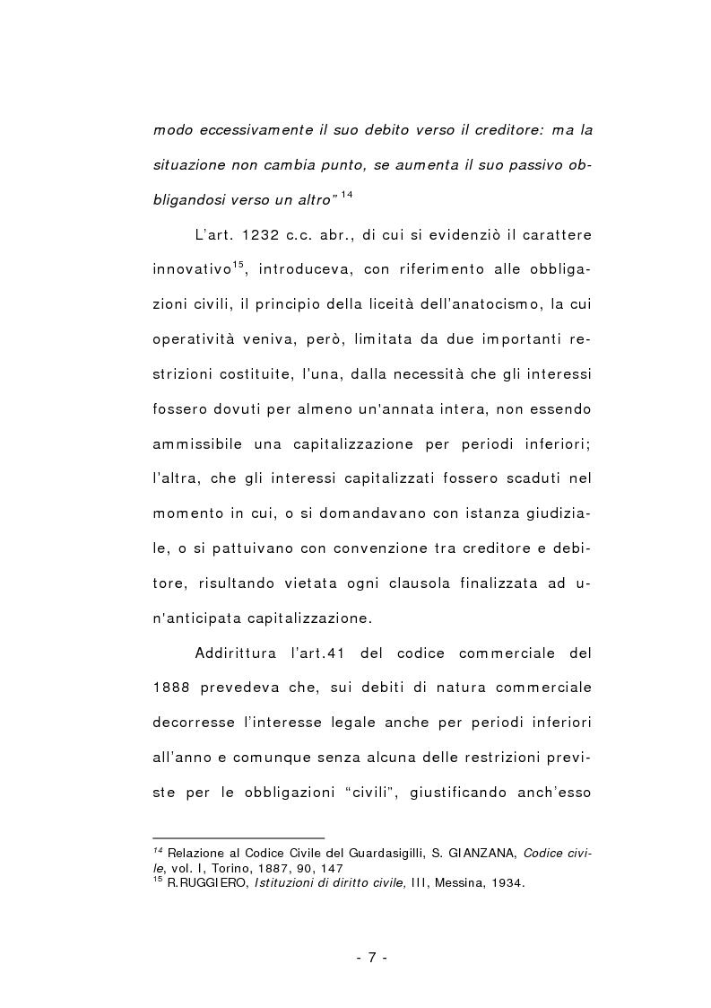 Anteprima della tesi: L'anatocismo, Pagina 7