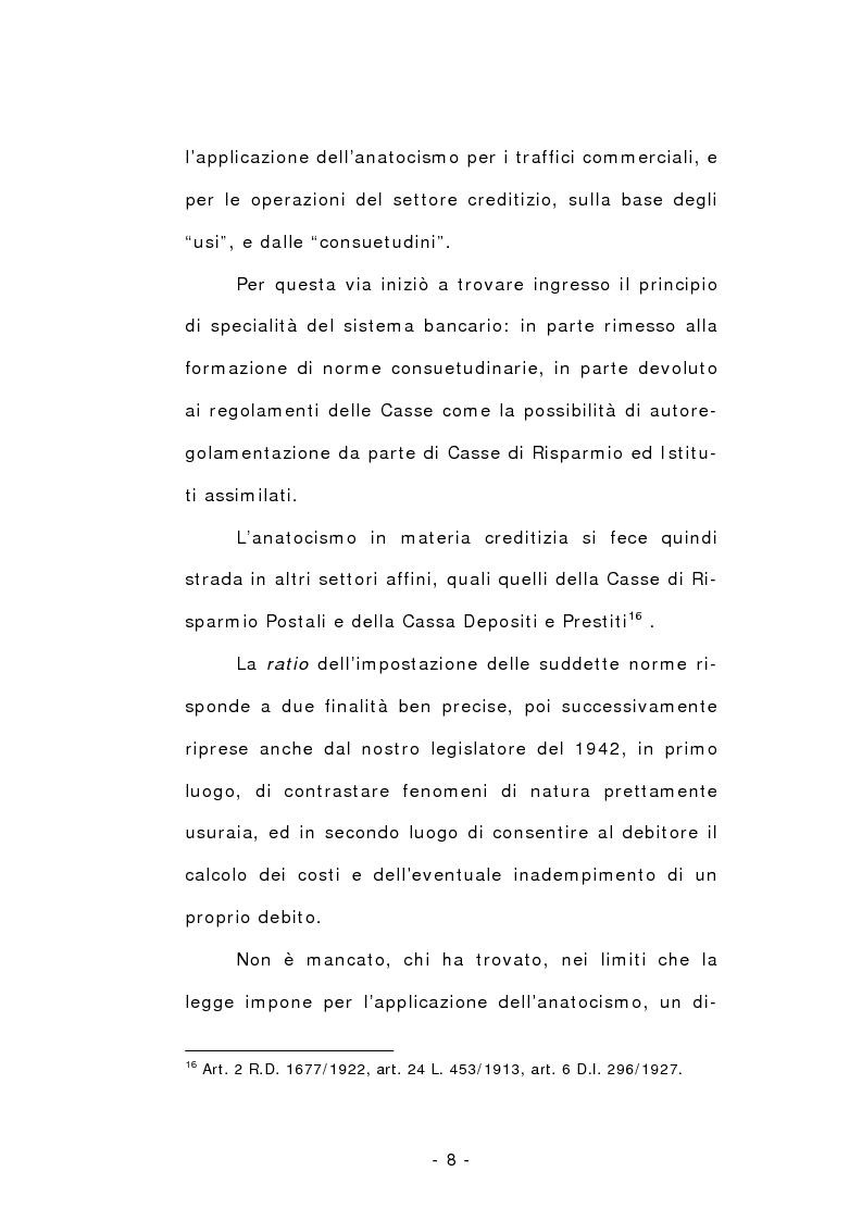Anteprima della tesi: L'anatocismo, Pagina 8