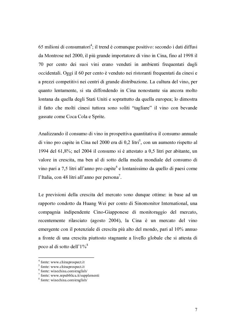 Anteprima della tesi: Introduzione di una nuova marca in un mercato: il caso del vino italiano in Cina, Pagina 4