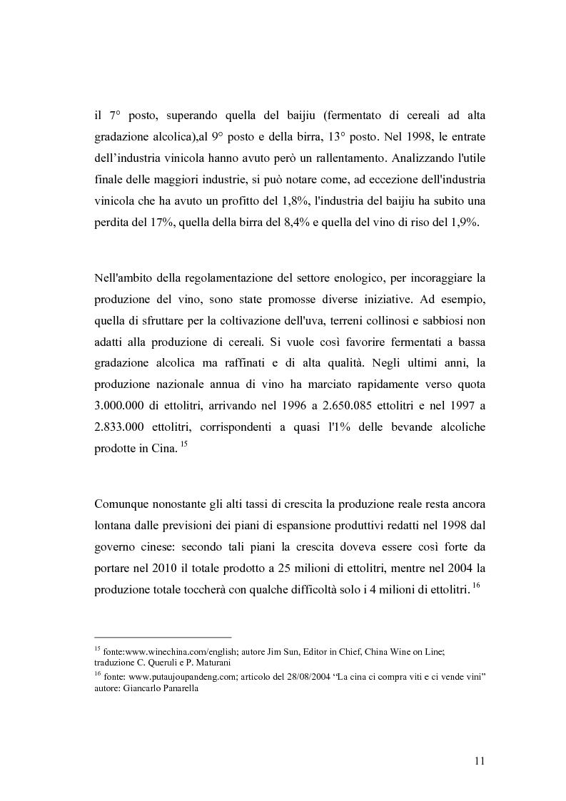 Anteprima della tesi: Introduzione di una nuova marca in un mercato: il caso del vino italiano in Cina, Pagina 8