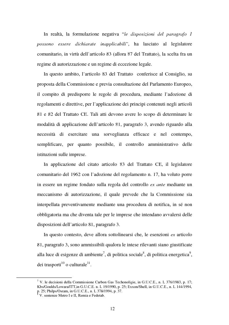 Anteprima della tesi: Il Regolamento del Consiglio CE 1/2003: la modernizzazione del diritto della concorrenza europeo, Pagina 8