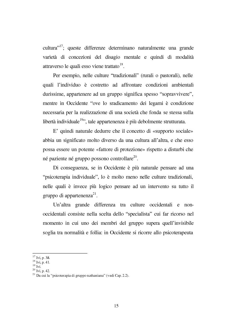 Anteprima della tesi: Possessioni e psicopatologie: una indagine etnopsichiatrica, Pagina 12