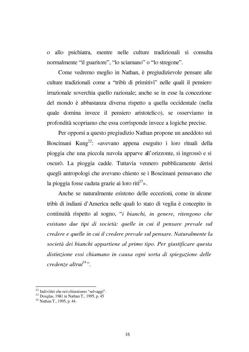 Anteprima della tesi: Possessioni e psicopatologie: una indagine etnopsichiatrica, Pagina 13