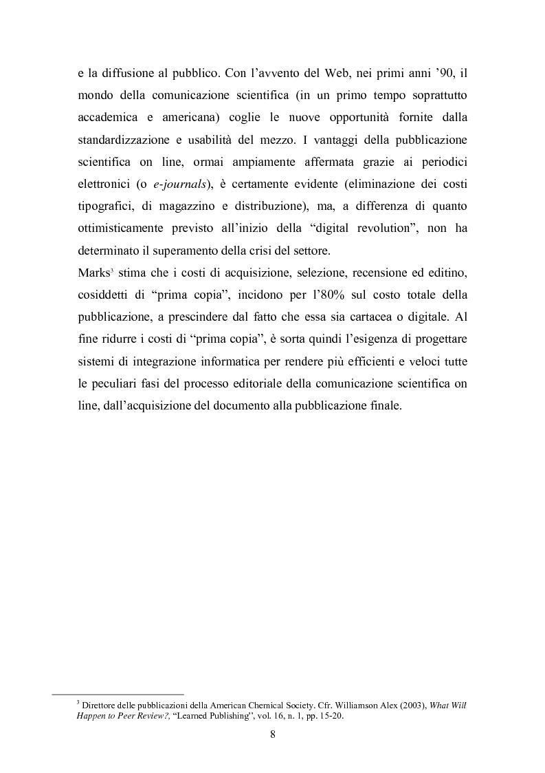 Anteprima della tesi: Strumenti e metodi del processo editoriale in linea: analisi delle realizzazioni attuali, Pagina 6