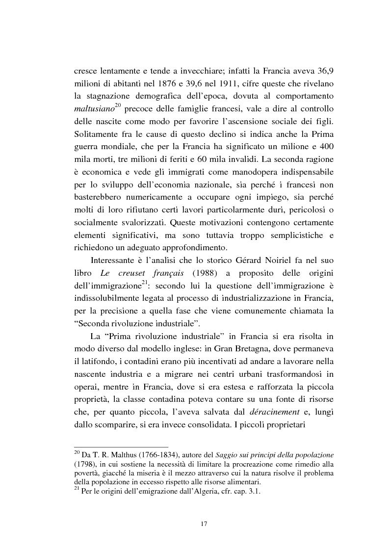 Anteprima della tesi: Le migrazioni franco-algerine prima e dopo l'11 settembre, Pagina 15