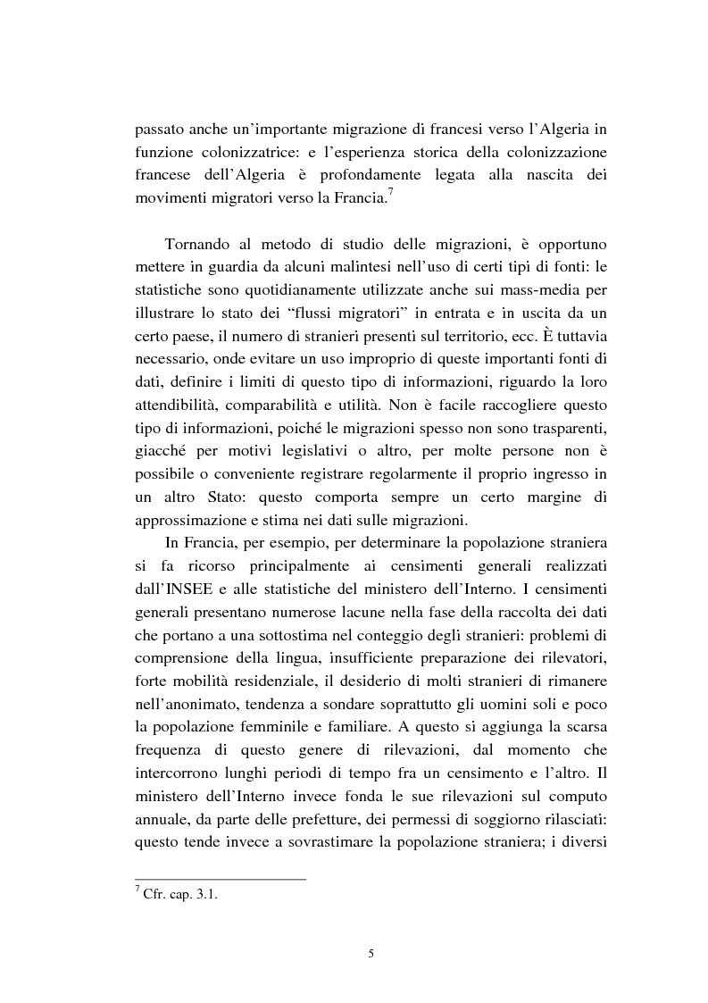 Anteprima della tesi: Le migrazioni franco-algerine prima e dopo l'11 settembre, Pagina 3