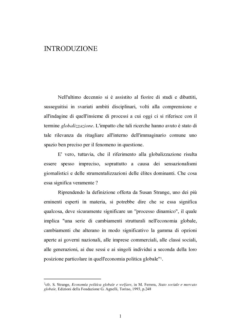 Anteprima della tesi: Globalizzazione e teorie della giustizia, Pagina 1