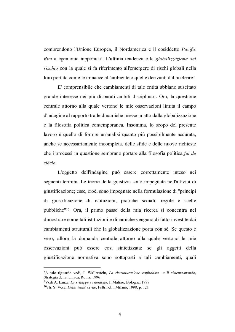 Anteprima della tesi: Globalizzazione e teorie della giustizia, Pagina 4