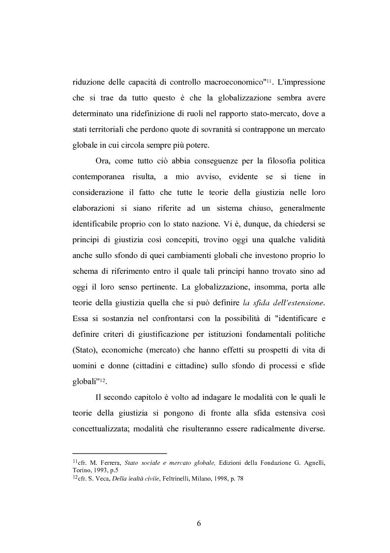 Anteprima della tesi: Globalizzazione e teorie della giustizia, Pagina 6