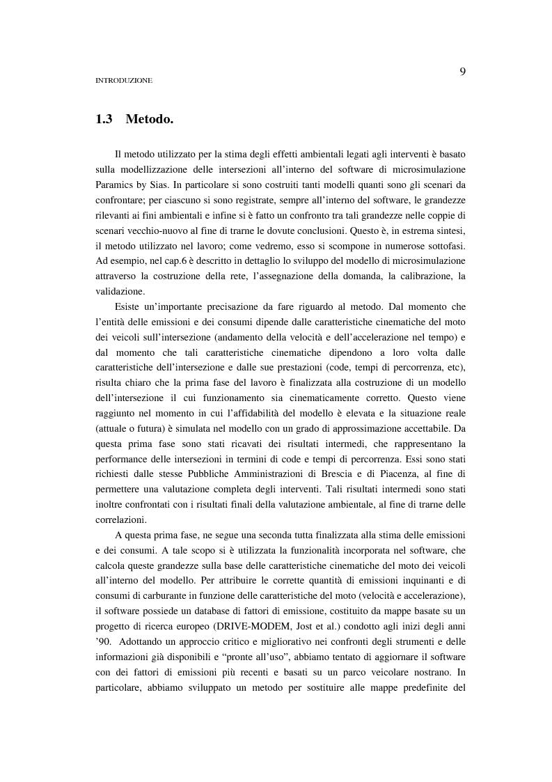 Anteprima della tesi: Valutazione di emissioni e consumi in corrispondenza di intersezione a rotatoria. Confronto con il caso dell'impianto semaforico., Pagina 3