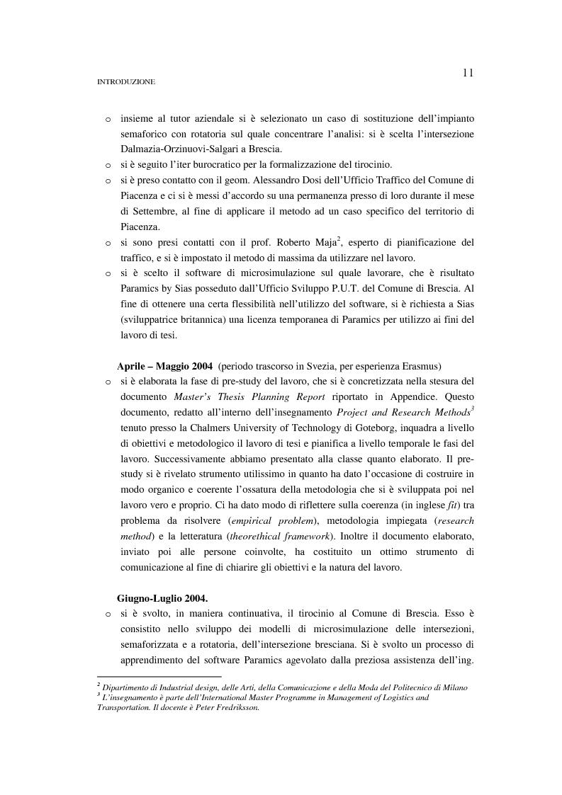 Anteprima della tesi: Valutazione di emissioni e consumi in corrispondenza di intersezione a rotatoria. Confronto con il caso dell'impianto semaforico., Pagina 5