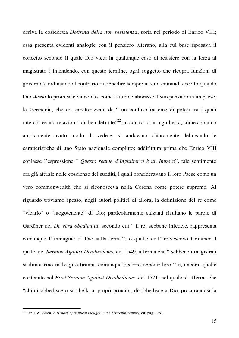 Anteprima della tesi: I Poteri della Corona e del Parlamento nel pensiero politico inglese del XVII secolo, Pagina 15